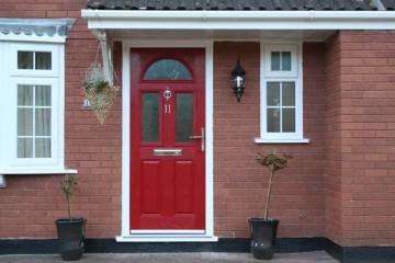 Red Composite Door from Stormseal Windows Devon