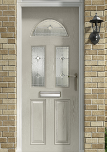 Beige composite door Plymouth